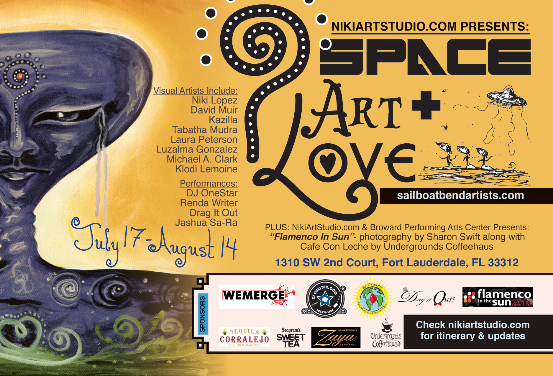 Next Art Show by Niki Lopez and Niki Art Studio: Space, Art + Love- July 17-August 14 2010